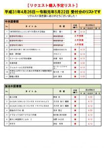 ☆R1.5月選定分(4.26~5.22)のサムネイル